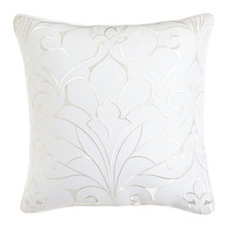 "Charisma - Embroidered Pillow 16""Sq. - CharismaEmbroidered Pillow 16""Sq.Designer About Charisma:Charisma linens are known for an understated elegance with attention to detail and quality workmanship. The Charisma collection includes fine bedding and towels crafted from luxurious fabrics such as Egyptian cotton and Supima cotton for a truly soft touch that endures."