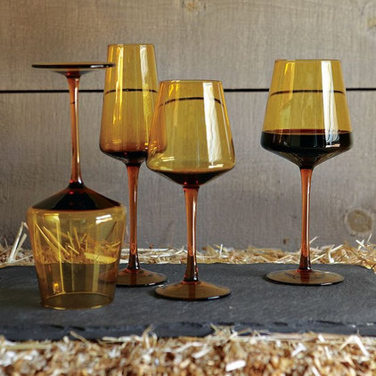 modern glassware by West Elm