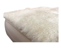 Holy Lamb Organics - Holy Lamb Organics Happy Lamb Fleece Topper, Full - The Holy Lamb organics Happy Lamb Fleece features cloud-soft exposed wool woven into an organic cotton backing. This product may offer significant pressure point relief.
