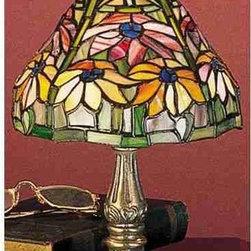 Meyda Tiffany - Meyda Tiffany 26633 Stained Glass / Tiffany Accent Table Lamp Tiffany P - Tiffany ReproductionsTiffany Poinsettia Mini Lamp1 Candelabra bulb, 40w (max)