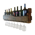 (del)Hutson Designs - Isabella Wine Rack - Made out of %100 reclaimed wood, this piece is sure to catch attention in your house for it's unique and one of a kind style.