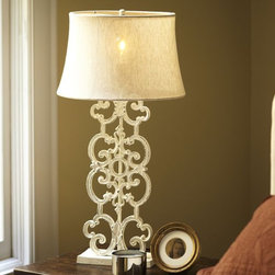Francesca Table Lamp Base - I've never seen a lamp like this! It's so unique.