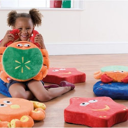 Kalokids - Kalokids Ocean Life Story Cushions - FC0011 - Shop for Blocks from Hayneedle.com! The Kalokids Ocean Life Story Cushions are perfect for stimulating childrens' imaginations and teaching them to think creatively and use props to tell stories or play with others. This pack of eight cushions includes two starfish two crabs two flat fish and two octopuses. Each cushion is highly detailed and features plush covers with varying fabrics for added texture. The covers are removable and washable which will keep these cushions looking great for a long time. They also coordinate perfectly with the rest of the furniture and cushions in the Ocean Life theme.About KalokidsKalokids mission is creating practical innovative products for the growth and development of children's minds bodies and overall sense of well-being. Their stringent quality standards have been internationally recognized and they are continuously improving processes to enhance the final product as well as customer satisfaction. They utilize their in-house design team to react quickly to consumer demands and evolving markets. Every aspect of each design is carried out by their team. Kalokids designers work closely with team members who research the market to bring the latest concepts to fruition.
