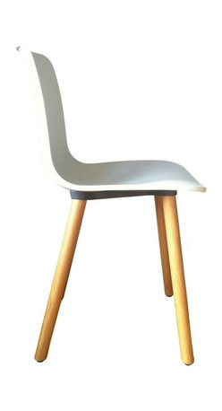 SOLD OUT!  White Vitra Hal Chair with Oak Base - $710 Est. Retail - $450 on Chai -