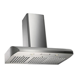 Kobe - Kobe CH2236SQB-WM-1 36W in. CH122SQB Series Wall Mounted Range Hood Multicolor - - Shop for Hoods and Accessories from Hayneedle.com! Attractive professional hood worthy of wall-mounted displayQuietMode setting allows hood to operate at 300 CFM at a reduced sound level of 42 decibels (1.2 sone); other hoods operate at 6-8 sones at that CFM levelTime Delay System with 10-second standby startup and 30-second delay shutoff or immediate shutoffTwo 12-volt 20-watt halogen lights for a bright safe cooking experienceEfficient blower with twin turbine impellerEasy-to-empty catch areas and smooth hood surface for deep cleaning without disassembling the hoodExhaust options: Top 6-inch round Top 3.25 x 10 inch rectangular or Rear 3.25 x 10 inch rectangularFits ceilings up to 9 ft. highAbout KOBE Range HoodsA world leader in quiet kitchen ventilation Kobe Range Hoods are designed by the Japanese-based Tosho & Company Ltd. Their products feature revolutionary QuietMode technology inspiring their motto: So Quiet You Won't Believe It's On! The result of extensive research and development the innovative QuietMode feature allows you to operate your range hood without irritating fan noise while cooking or entertaining guests in the kitchen. Kobe Range Hoods has been providing quality products and exceptional customer service in the United States and Canada for over 40 years.