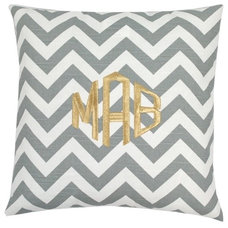 contemporary pillows by Luxury Monograms
