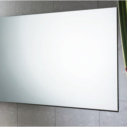 """Gedy by Nameeks - Planet 24"""" x 40"""" Vanity Mirror - Features: -Vanity mirror. -Finish: Polished. -Constructed of mirror. -Shape: Rectangle. -Wall mounted. -For contemporary bathrooms. -Dimensions: 23.6"""" H x 0.8"""" D x 39.4"""" W."""