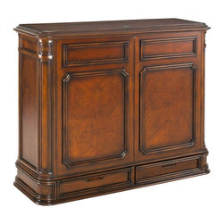 Crystal Pointe Brown TV Lift Cabinet - Crystal Pointe lcd / flat screen / plasma lift blends elegant contemporary furniture design with the latest TV lift technology. TV not included.