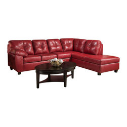 Chelsea Home Furniture - Chelsea Home Ocean 2-Piece Sectional with Chaise in Thomas Cardinal - Ocean 2 Piece Sectional with Chaise in Thomas Cardinal belongs to the Chelsea Home Furniture collection .