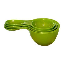 Preserve Measuring Cups Snap - Together Set - Green - Case Of 6 - 4 Pack - Powered by Leftovers