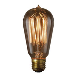 Bulbrite - Bulbrite 40W Thread Filament Incandescent Edison Light Bulb - 6 pk. Multicolor - - Shop for Light bulbs from Hayneedle.com! A meticulously crafted replica this Bulbrite 40W Hairpin Filament Incandescent Edison Light Bulb - 6 pk. is a nostalgic nod to the original. You know lighting can enhance the vibe of your place and this 40-watt thread filament Edison bulb does it in style. This bulb is recognized for its antique finish defined steeple and intricate filament design. Ideal for any transparent light fixture indoors or out. Comes in a pack of six bulbs.About BulbriteBulbrite is a family-owned company started in 1971 and based in Moonachie New Jersey. Bulbrite is renowned for their commitment to innovation education and service. They are a leading manufacturer and supplier of innovative energy-efficient light source solutions. Bulbrite is an award-winning company. Most recently their president Cathy Choi received the 2010 Residential Lighting Industry Leadership Award and the Bulbrite Swytch LED Desk Lamp received the 2010 Home Furnishing News Award of Excellence. They have introduced award-winning products and offer an extensive line of light bulbs including LEDs HID compact fluorescents fluorescents halogens krypton/xenon incandescent bulbs and specialty lamps. Bulbrite is an active member of the ZHAGA the American Lighting Association a silver sustaining member of the Illuminating Engineering Society of North American (IESNA) an Energy Star Partner a Lighting Facts LED Product Partner a member of LUMEN Coalition and a member of the International Dark Sky Association.