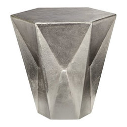 Tom Dixon - Gem Low Table by Tom Dixon - A real gem of an accent for a modern living room. Suitable as a side table or small coffee table, the Tom Dixon Gem Low Table has a hexagonal, faceted form inspired by that of cut gemstones. The unique form is made out of sand-cast and nickel-plated aluminum. The resulting rough texture and soft sheen evokes silver ingots. Tom Dixon has a vast commitment to design creativity and a mission to redefine how products are made and sold. The Tom Dixon lighting and furniture collections reflect all of his cutting-edge design and manufacturing innovations, from the product's shape and form to the raw materials and production processes used.