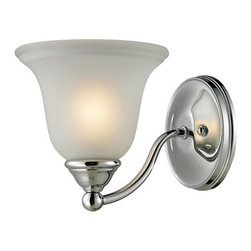 Cornerstone Lighting - Cornerstone Lighting 5501BB Shelburne 1 Light Bathroom Sconce with Frosted Glass - Features: