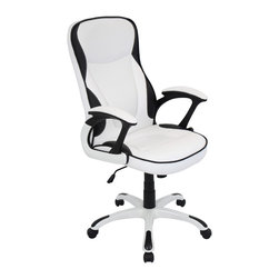"Lumisource - Storm Office Chair, White - 28"" L x 25.5"" W x 42.75"" - 47.5"" H"