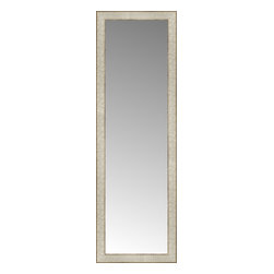 """Posters 2 Prints, LLC - 14"""" x 42"""" Libretto Antique Silver Custom Framed Mirror - 14"""" x 42"""" Custom Framed Mirror made by Posters 2 Prints. Standard glass with unrivaled selection of crafted mirror frames.  Protected with category II safety backing to keep glass fragments together should the mirror be accidentally broken.  Safe arrival guaranteed.  Made in the United States of America"""