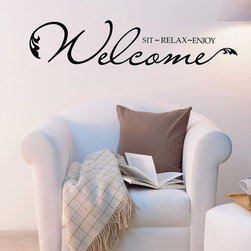 ColorfulHall Co., LTD - Home Wall Decal Sit Relax Enjoy - Home Wall Decal Sit Relax Enjoy