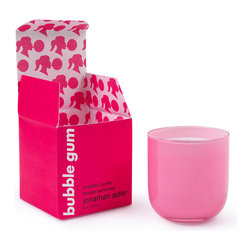 Bubble Gum Pop Candle - This is a bubblegum-scented candle. I cannot decide if I would want to smell bubble gum burning, but the candle is just so adorable. I love the rounded bottom.