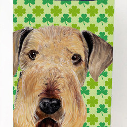 Caroline's Treasures - Airedale Shamrock Portrait Michelob Ultra Koozies for slim cans - Airedale St. Patrick's Day Shamrock Portrait Michelob Ultra Koozies for slim cans SC9293MUK Fits 12 oz. slim cans for Michelob Ultra, Starbucks Refreshers, Heineken Light, Bud Lite Lime 12 oz., Dry Soda, Coors, Resin, Vitaminwater Energy, and Perrier Cans. Great collapsible koozie. Great to keep track of your beverage and add a bit of flair to a gathering. These are in full color artwork and washable in the washing machine. Design will not come off.