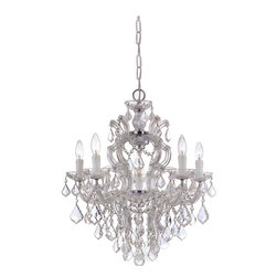 Crystorama - Maria Theresa Chandelier - Medium - Illuminate your favorite setting with the drama it deserves. This stunning chandelier drips with hand-cut crystal to truly fabulous effect.