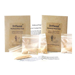 Driftwood - Driftwood Weathered Wood Finish 2-Pak - *  Creates a beautiful Driftwood Finish on bare, unfinished wood in 15 minutes