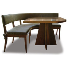 eclectic dining chairs and benches by costantinidesign.com