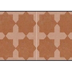 Casart coverings - Khatacross, Blue Wallcoverings, Rust, Backsplash (15 Sq. Ft.), Casart Light - Add some Marrakesh style to your home dcor with this Moroccan-inspired collection of faux tile patterns.