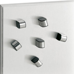 Blomus - Tewo Magnet - Set of 6 - Easy grip. Made from stainless steel and plastic. Set of 6. Designer: Floz design. Imported from ItalyDesigned to attract your most noteworthy memos and prettiest postcards held stylishly in place.