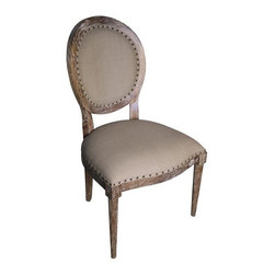 NOIR - NOIR Furniture - Kent Side Chair in Grey Wash - GCHA127GW-C - Kent Collection Side Chair