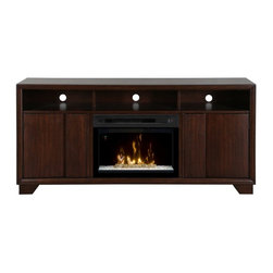 Dimplex - Dimplex Arkell Media Console with Electric Fireplace Multicolor - GDS25G-1412AW - Shop for Fire Places Wood Stoves and Hardware from Hayneedle.com! Illuminate your TV room in distinctive style with the Dimplex Arkell Media Console with Electric Fireplace. Using Dimplex's cutting-edge Multi-Fire XD technology this console gives you more options than even an ordinary electric fireplace including lifelike reproduction of a wood-burning or gas fire or your choice of relaxing or energizing ambient light themes. This beautiful light is enhanced by a reflective bed of acrylic ice and tumbled glass creating an alluring shimmering effect for instant ambience. Beautifully crafted from MDF and wood veneer in a walnut finish this console offers versatile storage and easy functionality including a floating LED screen display and multi-function remote control.About DimplexDimplex North America Limited is the world leader in electric heating offering a wide range of residential commercial and industrial products. The company's commitment to innovation has fostered outstanding product development and design excellence. Recent innovations include the patented electric flame technology - the company made history in the fireplace industry when it developed and produced the first electric fireplace with a truly realistic wood burning flame effect in 1995. The company has since been granted 87 patents covering various areas of electric flame technology and 37 more are pending. Dimplex is a green choice because its products do not produce carbon monoxide or emissions.