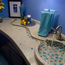 Contemporary Bathroom Sinks by Concrete Arts