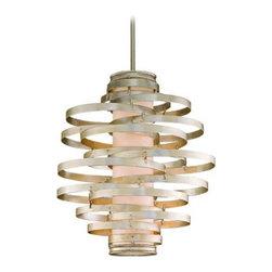 Corbett Vertigo Collection 3-Light Silver Pendant Chandelier - This chandelier is so fun!
