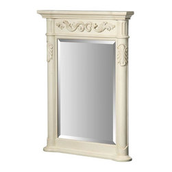 Hembry Creek - Hembry Creek Mirrors Windsor 24 in. W x 33 in. L Wall Mount Mirror in Antique - Shop for Decor at The Home Depot. The Windsor mirror is an antique replica with hand carved pilasters and appliques. It is available in 2 finishes and has coordinating mirrors available in 4 sizes. Each mirror features a beveled-edge mirror within the decorative frame. The mirror features a wall cleat for easy hanging. Color: Antique Bisque.