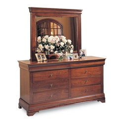 Durham Furniture - Durham Furniture Chateau Fontaine Double Dresser in Candlelight - Durham Furniture has been making solid wood furniture of the highest quality and enduring value since 1899. Our proud legacy of quality, integrity and dependability places us among North America&rsquos premier manufacturers of fine furniture.