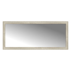 """Posters 2 Prints, LLC - 56"""" x 24"""" Libretto Antique Silver Custom Framed Mirror - 56"""" x 24"""" Custom Framed Mirror made by Posters 2 Prints. Standard glass with unrivaled selection of crafted mirror frames.  Protected with category II safety backing to keep glass fragments together should the mirror be accidentally broken.  Safe arrival guaranteed.  Made in the United States of America"""