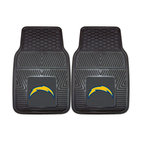 Fanmats - Fanmats San Diego Chargers 2-piece Vinyl Car Mats - A universal fit makes this two-piece mat set ideal for cars, trucks, SUVs and RVs. The officially licensed San Diego Chargers design in true team colors is permanently molded of vinyl for longevity.