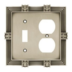 Liberty Hardware - Liberty Hardware 64465 Pineapple WP Collection 4.96 Inch Switch Plate - A simple change can make a huge impact on the look and feel of any room. Change out your old wall plates and give any room a brand new feel. Experience the look of a quality Liberty Hardware wall plate. Width - 4.96 Inch, Height - 4.9 Inch, Projection - 0.3 Inch, Finish - Brushed Satin Pewter, Weight - 0.49 Lbs.
