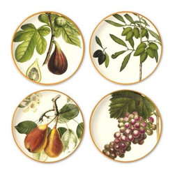 Botanical Fruit Salad Plates - Don't forget your fruit. What party wouldn't ring in spring using these festive botanical plates.