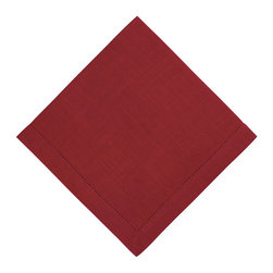 KAF Home - Rustic Napkin - Red, Set of 4 - Our rustic napkins are versatile, soft and give a classic feel to a modern kitchen. Available in a variety of colors, these napkins are perfect for more formal occasions, indoor or outdoor.