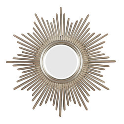None - Artemis Antique Silver Wall Mirror - Bursting with regal style, this mirror is hand-finished in antique silver with warm highlights to adapt to any decor. This Artemis wall mirror is finished with beveled edges.