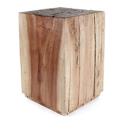 Pfeifer Studio - Cottonwood Cube Table, Eco-Friendly Finish - Locally harvested and eco-friendly, our cube table in solid Cottonwood is created from wood taken from the bosque (woodlands) along the Rio Grande River in New Mexico.