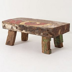 "Anthropologie - Reclaimed Boat Coffee Table - Limited editionReclaimed wood16""H, 19""W, 14""DImported"