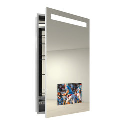 Re-creation Right Recessed Medicine Cabinet by Electric Mirror -