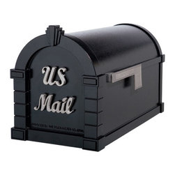 Signature Keystone Series Mailbox - Metallic Bronze with Antique Bronze - The scripted raised accent letters highlight this unique Signature Mailbox. With its rust-resistant, cast aluminum construction and generous dimensions, this mailbox is a perfect addition to any home.