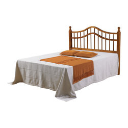 Donco Kids - Double Rail Headboard - You can update your home decor simply with this beautiful double rail headboard and forget about buying a whole new bed. Crafted from 100-percent solid pine wood,this headboard will add refinement to your bedroom.