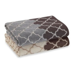Chf Industries Inc. - Atrium Bath Towel Collection - Decorate your bathroom with this lovely towel collection that features a frete jaquard design. Made of soft, 100% cotton.