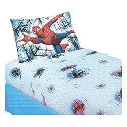 Jay Franco and Sons - Spiderman 3 Double Trouble Full Bedding Sheet Set - FEATURES: