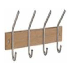 Smedbo - Smedbo Cat & Hat Rack Quad, Oak/Chrome - Smedbo Cat & Hat Rack Quad, Oak/Chrome