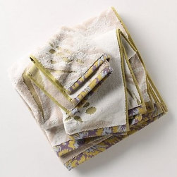 Newick Wildflower Bath Towels - These wildflower towels from Anthropologie come in lovely muted colors and textures.