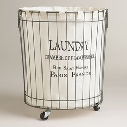 Claudette Wire Hamper - I love the idea of having even your dirty laundry look great in this adorable vintage-inspired laundry basket.