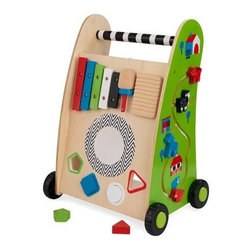 KidKraft Push Along Play Cart - Kids can play with the KidKraft Push Along Play Cart for hours. Complete with a tracking maze a shape sorter and a xylophone for enhancing motor skills shape recognition and music investigation. Includes 90-day manufacturer's warranty.